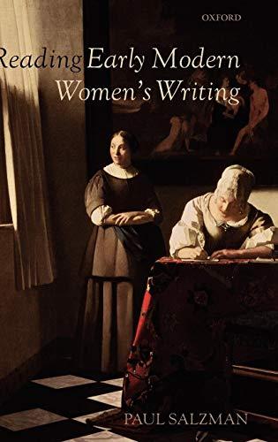 Reading Early Modern Women's Writing