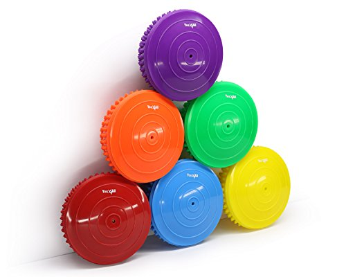 Yes4All Hedgehog Balance Pods with Multiple Colors (Set of 6)