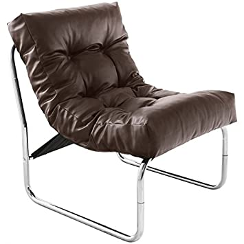 Mk Design Sessel Isere Simil Leder Braun Amazonde Küche Haushalt