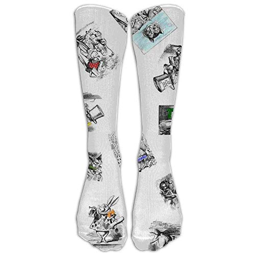 Lovely Unique Cotton Alice In Wonderland Stockings For Unisex