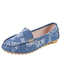 Jesper Women Soft Bottom Peas Shoes Casual Fur Leather Moccasins Shallow Mouth Boat Shoes