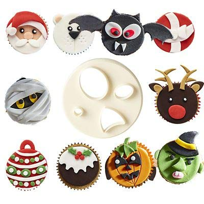 FMM Mix n Match Animal Face Icing Cutter - Create Hundreds of Different Designs lakeland
