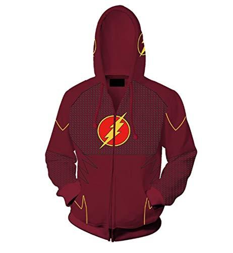 HPY Cosplay Hoodie Costume Barry Allen Sweatshirt Jacket Christmas Halloween,BS]()