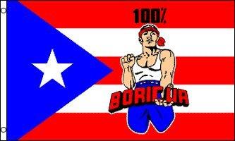 - AZ FLAG Puerto Rico 100% Boricua Flag 3' x 5' - Puerto Rican - Porto Rico Flags 90 x 150 cm - Banner 3x5 ft
