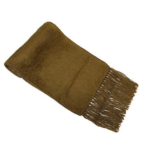 SCARF Alpaca Wool Blend flat weave made in PERU KHAKI