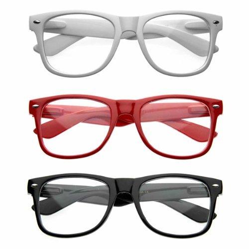 zerouv-nerd-raver-poser-clubbing-clear-lens-uv400-dork-horn-rimmed-glasses-3-pack-black-white-red