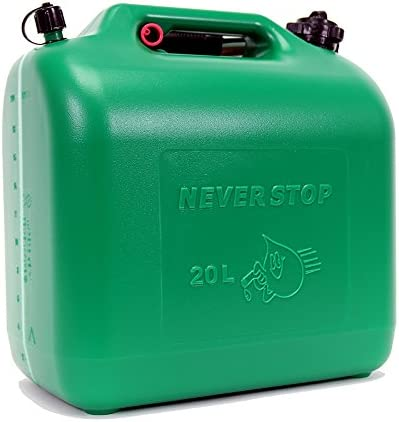 Never Stop Kraftstoffkanister Kunststoff Grün 20 Liter Kanister Auto
