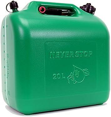5 Stück 5 L Kraftstoffkanister Benzin Reserve Kanister Tank UN-Zulassung grün