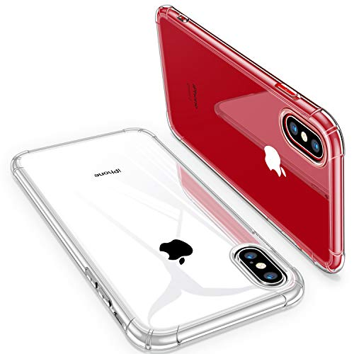 iPhone X Case, iPhone Xs Case, CANSHN Clear Case with Soft TPU Bumper [Slim Thin] Protective Case for iPhone X/iPhone Xs 5.8 Inch - Crystal Clear