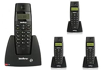 b60977bfd7 Kit Telefone sem fio digital TS 40 ID Intelbras + 3 Ramal sem fio digital TS