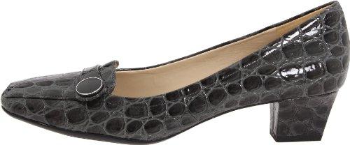 Naturalizer Women's Fulton Slip-On Loafer,Grey Shiny Croco,8 M US