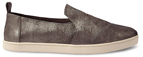 TOMS Women's Deconstructed Alpargata Pewter Metallic Leather 7 B US B (M)