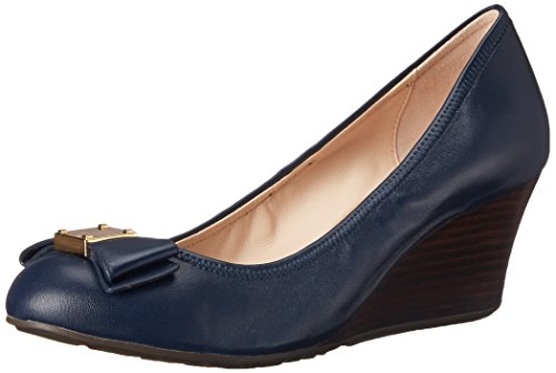 Cole Haan Women's Tali Grand Bow WDG65 Wedge, Blazer Blue, 7.5 B - Bow Cole