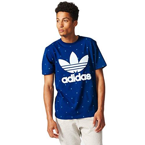 adidas Originals Mens Argyle Polka Dot T-Shirt Blue M
