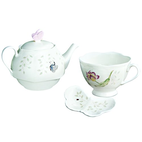 (Lenox Butterfly Meadow Stackable Tea-For-One Set)