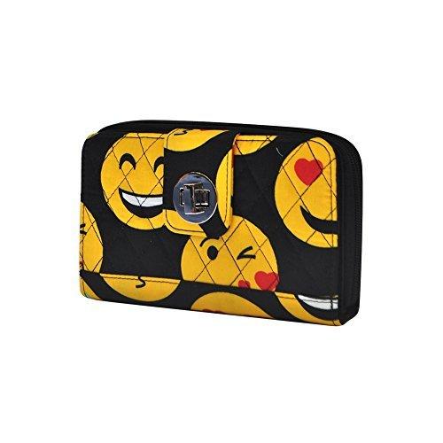Emoji Faces Print NGIL Quilted Twist Lock Wallet