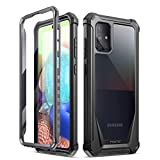 Poetic Guardian Series for Samsung Galaxy A71 5G Case, [Not Fit Verizon A71 5G UW] [Not Fit A71 4G] Full-Body Hybrid Shockproof Bumper Cover with Built-in-Screen Protector, Black/Clear (Color: Black)