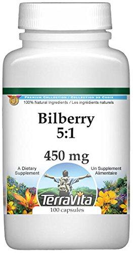 Bilberry 5:1-450 mg (100 Capsules, ZIN: 519257) - 3 Pack