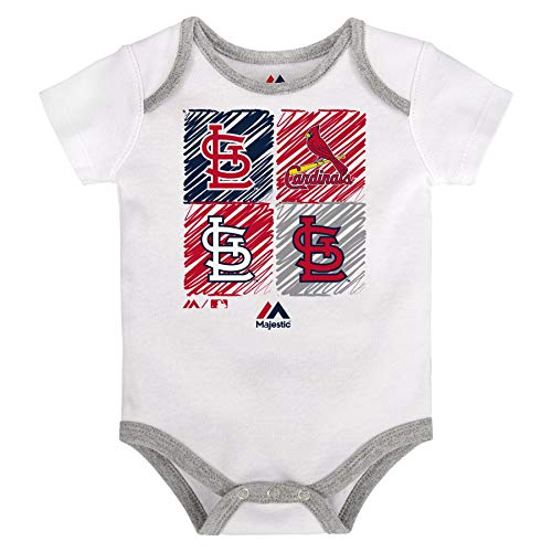 Majestic Athletic St. Louis Cardinals Infant Onesie Size 12 Months Bodysuit Creeper White
