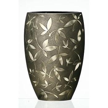 Amazon.com: Jarrón de cristal grande hecho a mano – decorado ...