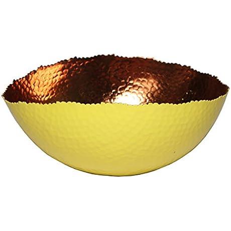 Melange Home Decor Cuivre Collection 9 Inch Oval Bowl Color Sunflower Pack Of 12