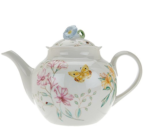 Lenox Butterfly Meadow Classic Teapot with Lid Limited Edition Porcelain