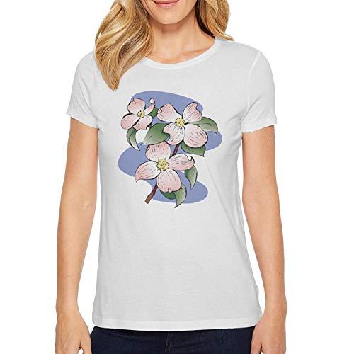 Redbud Flowering Trees - Flowering Dogwood Printed Short T Shirt for Women Creative