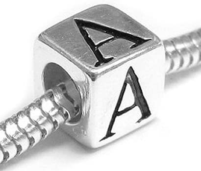 B005116WUA Queenberry Sterling Silver Cube Letter European Style Bead Charm 61AQ3uP93vL