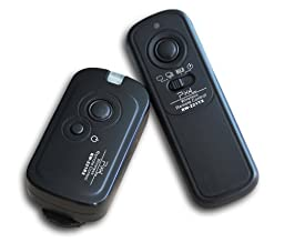 Pixel 100 Meter 2.4GHz Wireless Remote Shutter Release for Canon EOS 7D 5D, 5D Mark II, 1D Mark III, 1D Mark IV, 1Ds, IDs Mark II, IDs Mark III, IDs Mark IV, 6D, 50D, 40D, 30D, 20D, 10D, Replaces Canon TC-80N3