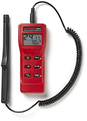 Amprobe THWD-5 Temperature and Relative Humidity Meter with Wet Bulb and Dew Point by Amprobe