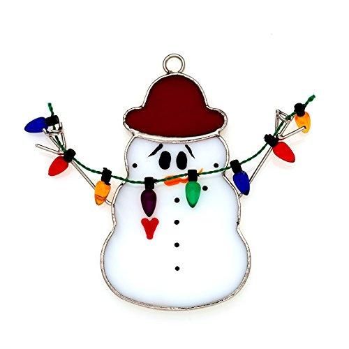 (Switchables Glass Cover, Snowman with Lights)