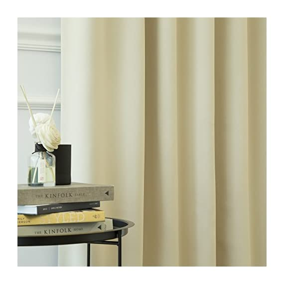 "Best Home Fashion Thermal Insulated Blackout Curtains - Back Tab/Rod Pocket - Beige - 52"" W x 84"" L - (1 Panel) - Features an innovative triple weave fabric construction to block out sunlight and harmful UV rays. Insulates against the heat and cold, saving you money & energy. Laboratory-tested innovative fabric construction that insulates against the cold. Energy efficient, insulation, noise reduction, improve sleep, high quality. Header Size: 0.5 inches / Hem Size: 2 inches - living-room-soft-furnishings, living-room, draperies-curtains-shades - 41MukYBoTCL. SS570  -"