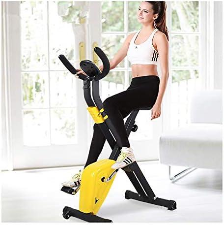 SYXZ Bicicleta de Spinning silenciosa Plegable para el hogar, Equipo de pérdida de Peso para Correr con Pedal Interior, Bicicleta Deportiva Universal, Pantalla electrónica