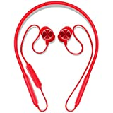 Bluetooth Headphones Neckband V4.2 Magnetic Earbuds 8H Playtime Wireless Sports Earbuds with Mic (Aptx Stereo Sound, IPX5 Waterproof,CVC6.0 Noise Cancelling, Metal Design) Headset for Running (Red)
