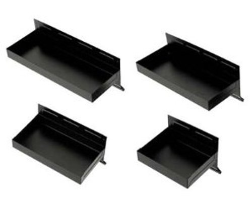 4-Piece Magnetic Tool & Parts Tray Set-Black