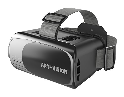 Art+Vision Virtual Reality VR Headset 3D Glasses, Works With All Smartphones 4.7'-6' Android & iPhone