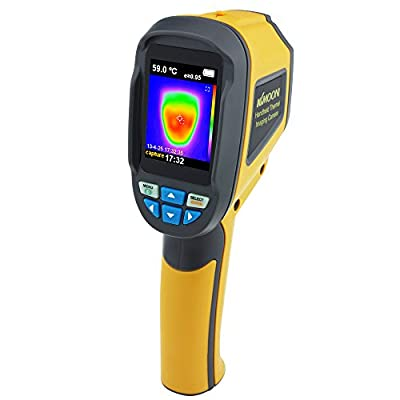 KKmoon Portable Infrared Thermometer IR Thermal Imager Temperature Range -20? to 300?(-4? to 572?) & IR Resolution 3600 Pixels Thermal Imaging Camera