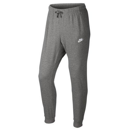 NIKE Mens Sportswear Jogger Pants Dark Grey Heather/White Size XX-Large