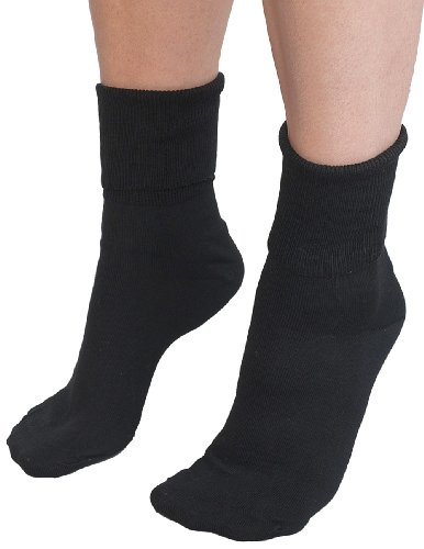 Buster Brown Ankle Socks Black - 100% Cotton Size: 11 Ladies - 3 ()