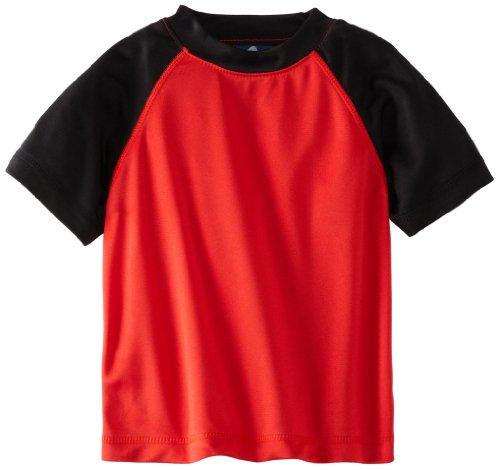 Kanu Surf Boys Short Sleeve UPF 50 Rashguard Swim Shirt
