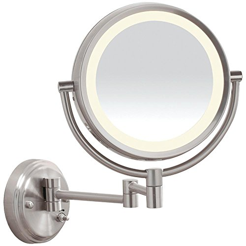 Conair BE6BLED LED Brushed-Nickel Wall-Mount Mirror