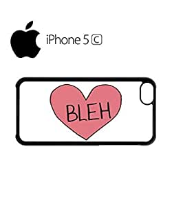 LJF phone case Bleh Broken Pink Heart Whatever Mobile Cell Phone Case Cover ipod touch 5 White
