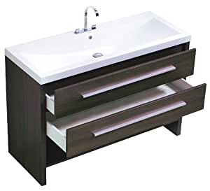 Luxo Marbre Relax V48 A Relax Vanity With Synthetic Marble Sink Alamo Oak Bathroom Vanities