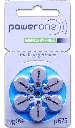 Power One Zinc Air Batteries Size P675 (6 pack)