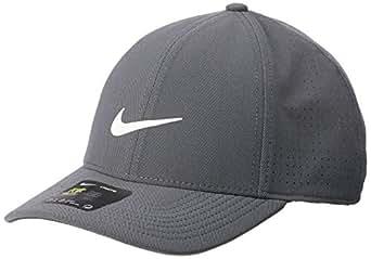 Nike Unisex Arobill Legacy 91 Perforated Cap, Dark Grey/White/Anthracite/(White), M/L