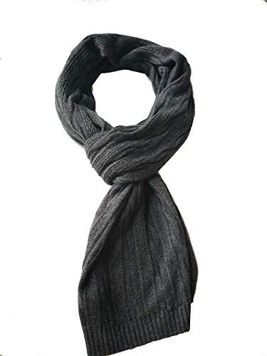 Bonnenult Men Cashmere Knitted Pattern Scarf ()