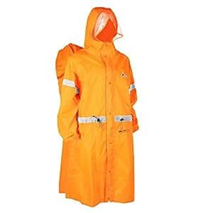 Triwonder Backpack Tarp Rain Cover Raincoat Poncho Rain Cape for Outdoor Hiking Travel Camping (Orange, S)