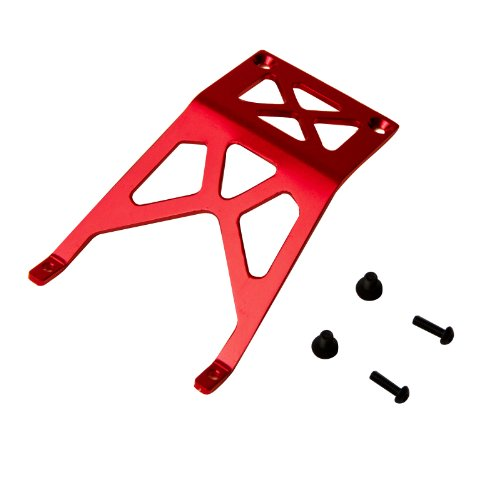 Atomik RC Traxxas Stampede 1:10 Aluminum Alloy Front Skid Plate Hop Up Upgrade, Red Replaces Traxxas Part 3623 ()