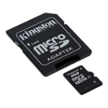 Kingston 16 GB Class 4 MicroSD Flash Card with SD Adapter SDC4/16GB