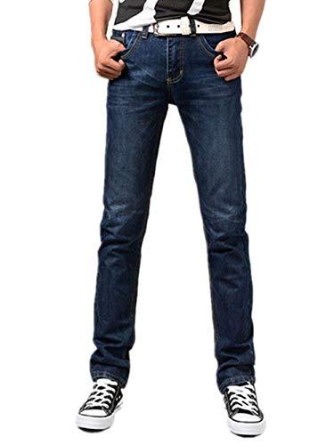 Jeans Uomo Pantaloni Bluejeans Chino Blu Skinny Regular Fit Casual Hrenjeans Retro Stretch Dritti Denim Di Base Strappati Blau-a4